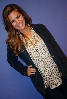 cheetah shirt and sweater