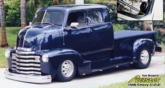 1948 Ford COE Cab over engine truck vintage dark blue Chevrolet Trucks, Cool Trucks, Chevy Trucks, Pickup Trucks, Cool Cars, Custom Trucks, Custom Cars, Customised Trucks, Pick Up