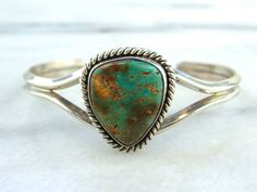 Native American Sterling Silver Cuff Bracelet with by MSJewelers. $145