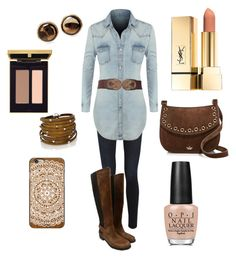 """""""Let's go down to Juniors Farm"""" by klm62 on Polyvore featuring Frame Denim, Stuart Weitzman, LE3NO, Kate Spade, Chico's, Sif Jakobs Jewellery, OPI and Casetify"""