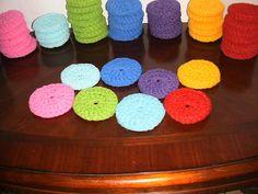 Scrubbie Pot Scrubber Nylon Dish Scrubber Crochet Non-scratch