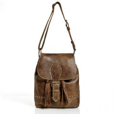 Annie Oakley Bag in Vintage Tribe Leather   Leather Handbags   Roots