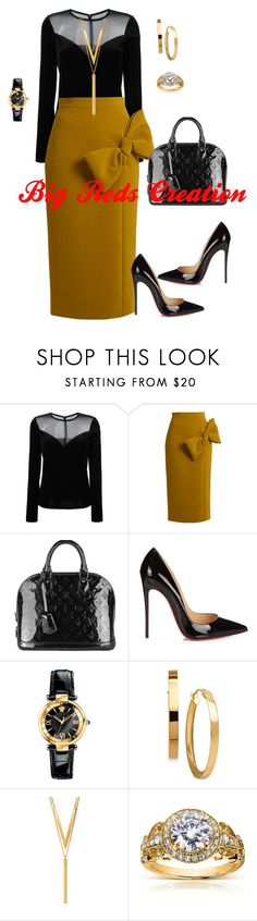 """""""Power"""" by bigreds ❤ liked on Polyvore featuring Lanvin, Roksanda, Louis Vuitton, Christian Louboutin, Versace, BERRICLE and Annello"""