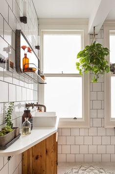 Track Lighting, Kitchen Cabinets, Ceiling Lights, Bathroom, Home Decor, Washroom, Decoration Home, Room Decor, Cabinets