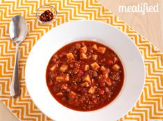 Hot Italian Sausage Soup from http://meatified.com #paleo #whole30