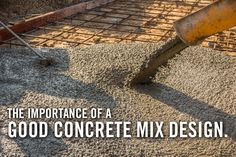 Concrete mix design is the process of preparing a batch of concrete with the right quantities of ingredients for optimal strength.