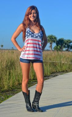 Sporty Girl Apparel - LOOSE fitting american flag tank top , $25.95 (http://www.sportygirlapparel.com/loose-fitting-american-flag-tank-top/)