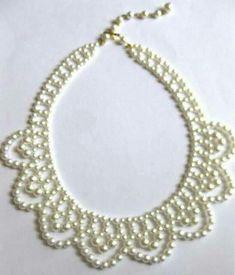 Vintage pearl bride after five necklace choker 1950 s door eejewelry Beaded Wedding Jewelry, Vintage Wedding Jewelry, Bridal Jewelry, Bead Jewellery, Seed Bead Jewelry, Pearl Jewelry, Jewelry Crafts, Handmade Jewelry, Ideas Joyería