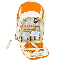 2 Person Picnic Insulated Backpack  A 2 Person Picnic Insulated Backpack is the perfect quality promotional item. Its uses are outdoor camping picnic and design with immense features like big zipper front pocket to hold tableware, insulating layer main zipper compartment, side pocket, padded shoulder straps,
