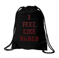 Sale - I Feel Like Pablo bag, Yeezy, Yeezus, The Life of Pablo, Pop Up Tour Merch, Pablo, bag, Black bag, Kanye West, Pablo bag, Pablo Bag #KanyeWest #AntiSocial #AntisocialGymBag #ClubBag #ConcertBag #AntisocialClub #IFeelLikePablo #Supreme #KanyeWestBag #AntiSocialSocial