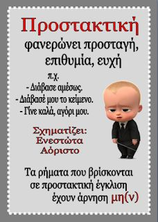 Δημιουργίες από καρδιάς...: Εγκλίσεις Greek Language, Grammar, Teaching, Education, School, Blog, Kids, Young Children, Boys