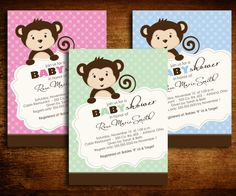 monkey baby shower invites Creatively challenged baby shower centerpieces