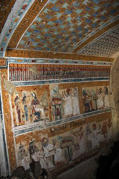 Painted interior of newly discovered Ramesside Tomb at El Khokha, Luxor