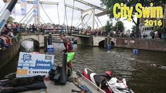 Amsterdam City Swim 2016 Handing over the check with total amount in euro's