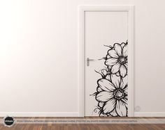 Items similar to Floral Grower Wall Sticker (Vinyl Decal Door Art Nature Flower Floral Rose Petal) on Etsy