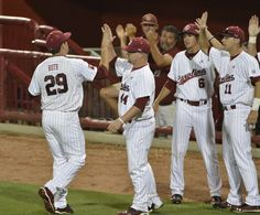 All-American and McWhorter Award winner Michael Roth holds a College World Series record eight CWS starts in three consecutive championship series appearances for South Carolina (2010, 2011, 2012).