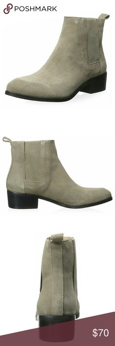 "*NEW* Steven by Steve Madden Desirae Suede Boot New in box Steven by Steve Madden Women's Desirae Boot Color: Grey Suede Size: 9 -Leather -Shaft measures approx 5.25"" from arch -Heel measures approx 1.75"" -Platform measures approx 0.25"" -Elasticized gores at sides of boot Steven by Steve Madden Shoes Ankle Boots & Booties"
