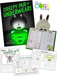 Creepy Pair of Underwear lesson plans and craft