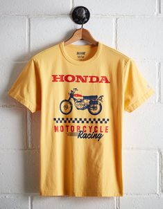 ca49fc1a Tailgate Men's Honda Motorcycle Graphic Tee, Yellow