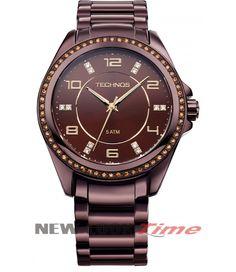 ec22edfc880 Relógio TECHNOS Elegance Swarovski 2035FFG 1M Relojoaria New Look Time R   299