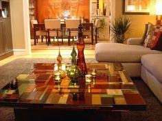 Michael Curry Mosaics - glass mosaic table