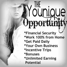 The Younique Opportunity is HUGE!! Join my team now while several areas are untapped! If you've never heard of Younique, you soon will! Check them out here http://www.youniqueproducts.com/chantelbame