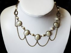 Handmade vintage victorian style necklace by The Black Cat Designs