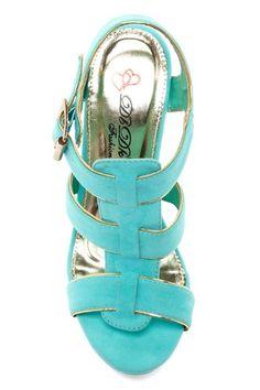 Sitely Woven T-Strap Wedge Sandal