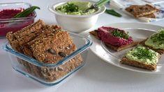 Knäckebrot Tasty, Yummy Food, Buckwheat, Dumplings, Crackers, Banana Bread, Seeds, Muffin, Homemade