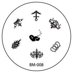Series 1 REVISION Nail Plate BM008 - Crowns + Anchor