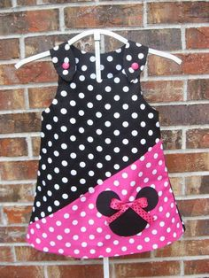 Superman Party Ideas sesame-street-birthday Yet another adorable Minnie Mouse dress. Toddler Dress, Toddler Outfits, Baby Dress, Kids Outfits, Dot Dress, Little Dresses, Little Girl Dresses, Cute Dresses, Girls Dresses