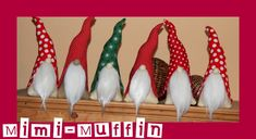 Christmas Gnome, Scandinavian Christmas, White Christmas, Christmas Crafts, Christmas Decorations, Sewing Patterns Free, Sewing Tutorials, Free Pattern, Hobbies And Crafts