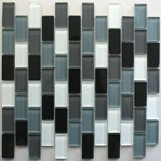 Mosaic Tiles Glass 23x48x8mm Black Mix Terrace Tiles, Patio Tiles, Exterior Tiles, Interior And Exterior, Glass Mosaic Tiles, Wall Tiles, Detail Shop, Outdoor Areas, Beautiful Interiors