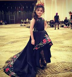 Kids frocks - New High Low Black Flower Girl Dresses Puffy A Line ONeck Appliques Girls Prom Party Dress Pageant Gowns Girls Pageant Dresses, Pageant Gowns, Prom Party Dresses, Little Girl Dresses, Flower Girl Dresses, Flower Girls, Wedding Dresses, Evening Dresses, Bridesmaid Dresses
