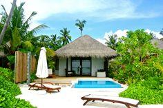 Fantastic experience ! Beach villa with pool Velassaru Maldives www.cruise-maldives.com #Maldives #resort #hotel #island #Velassaru #Universal #luxurytravel #budgetexperience #holidays #plungepool #pool #beachvilla #beach
