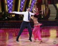 Kym Johnson & Mark Cuban dancing the Samba.