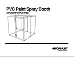 PVC paint spray booth plans. #homeworkshop