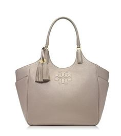 Tory Burch Thea Round Tote in dust storm