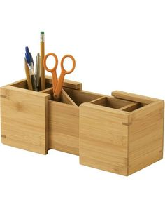 Bamboo Expandable Pencil Holder by Lipper International is a great gift item! The holder expands when you need to hold more items, and then will close up to look neater on your counter or desk.