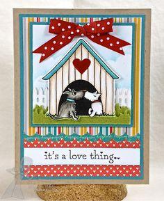 Scotties Valentine Love Anniversary Card by Shannon White #ValentinesLove