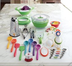 Maybe rainbow color cooking tools will motivate me to use them more...love the food network stuff from kohls.