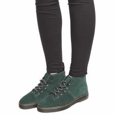 womens dr martens dark green lahava 6 eye lined chukka boots