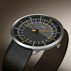 botta-design duo 24: world's first one-hand-watch for two timezones