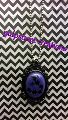 Go Batty Purple and Black Resin Cameo by PulpStreetCreations, $20.00