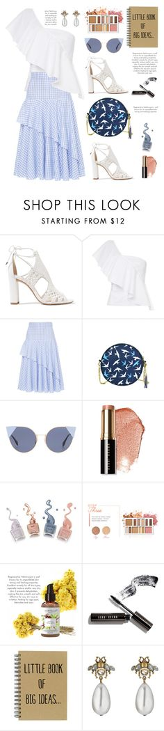 """Little book of big ideas"" by hamaly ❤ liked on Polyvore featuring Alexandre Birman, FLOW the Label, Fendi, Bobbi Brown Cosmetics, BHCosmetics, Gucci, outfit, prints, ootd and trends"