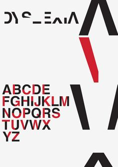 Dyslexia typeface created by Dan Britton to demonstrate the effects of the…