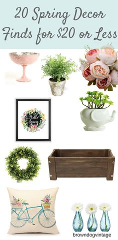 Get ready for spring and add some fun new decor - all for $20 or less!  #springdecor