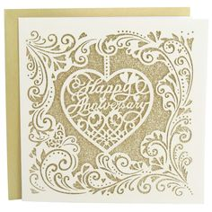 laser cut anniversary card from Paperchase