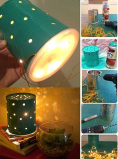 Wondering what you can do with empty formula cans or other tins you've got ready for the recycling? View our gallery of a range of ideas. Coffee Can Crafts, Tin Can Crafts, Fun Crafts, Diy And Crafts, Baby Formula Containers, Baby Formula Cans, Formula Can Crafts, Tin Can Lanterns, Baby Jars