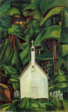 Indian Church - (1) by Emily Carr (1871-1945, Canada)